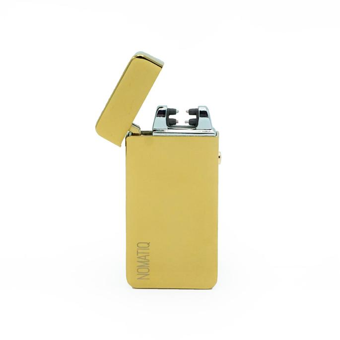 Image of Rechargeable Golden Dual Arc Lighter