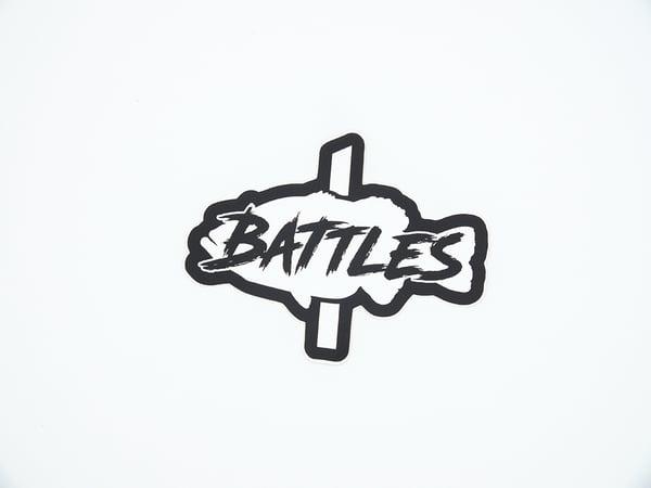 Image of Battles Fish Sticker (WHITE)