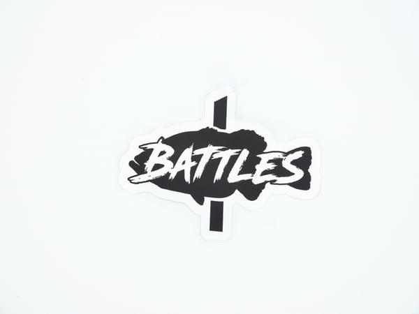 Image of Battles Fish Sticker (BLACK)