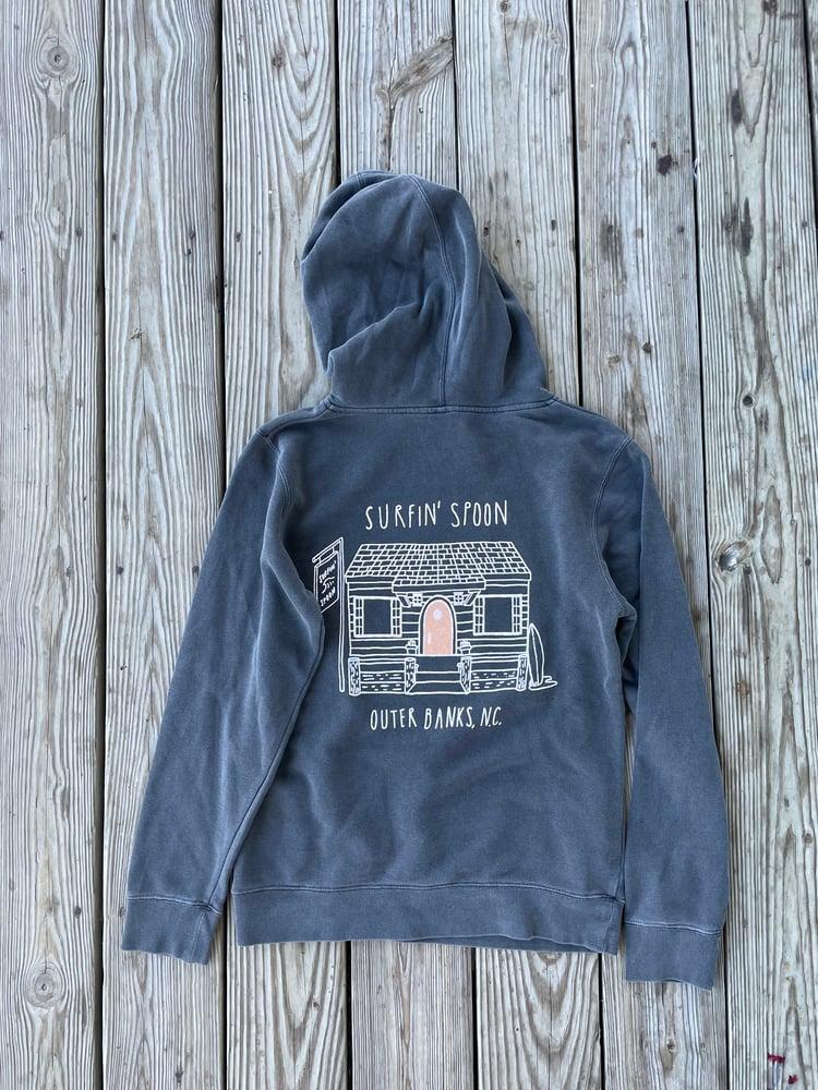 Image of Classic Logo/Hobbit Door Vintage Black Pullover