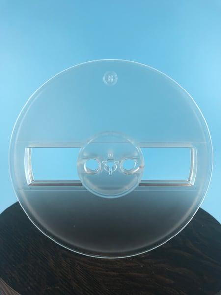 "Image of Burlington Recording 1/4"" x 5"" Translucent Heavy Duty Small Hub Plastic Reel in White Set Up Box NEW"