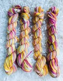 Hand Dyed Wool 8ply, Each 25grams- Yellow Pastels, Landscapes, Blues, Purple & Pinks and Gooseberry