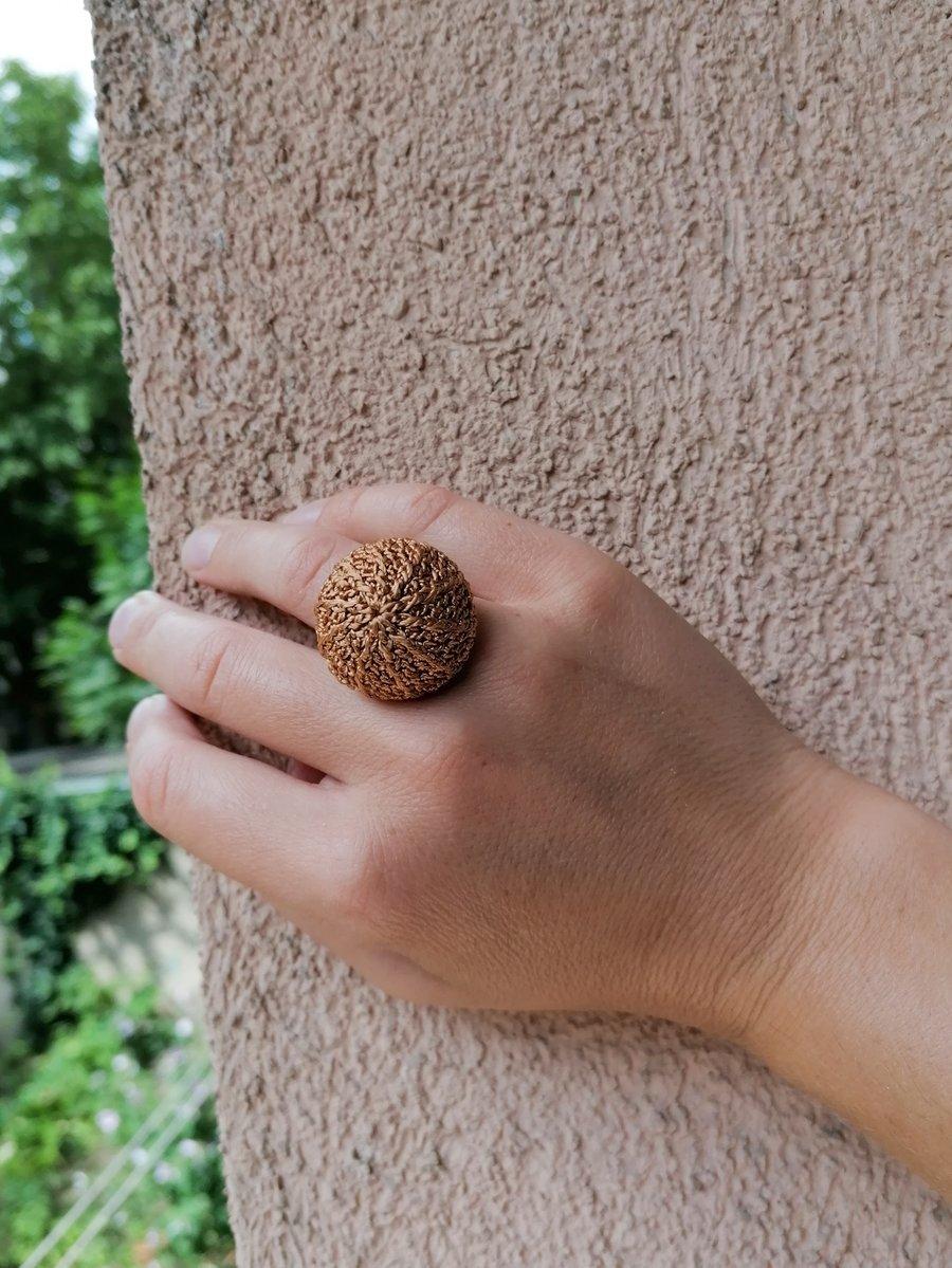 Image of Crochet Ring in Copper, Medium Size