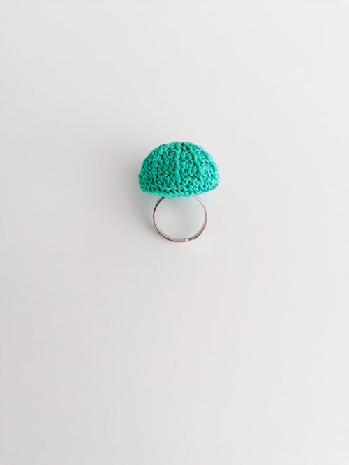 Image of Crochet Ring in Mint, Medium Size