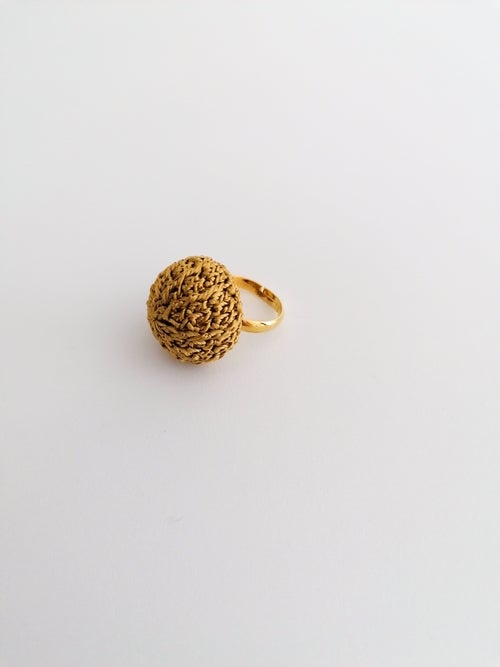 Image of Golden Crochet Ring, Small Size