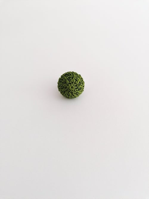 Image of Green Crochet Ring, Small Size