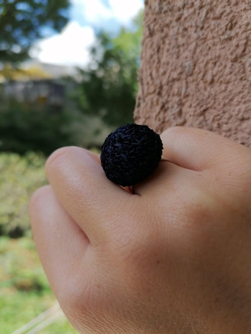 Image of Crochet Ring in Deep Blue, Small Size