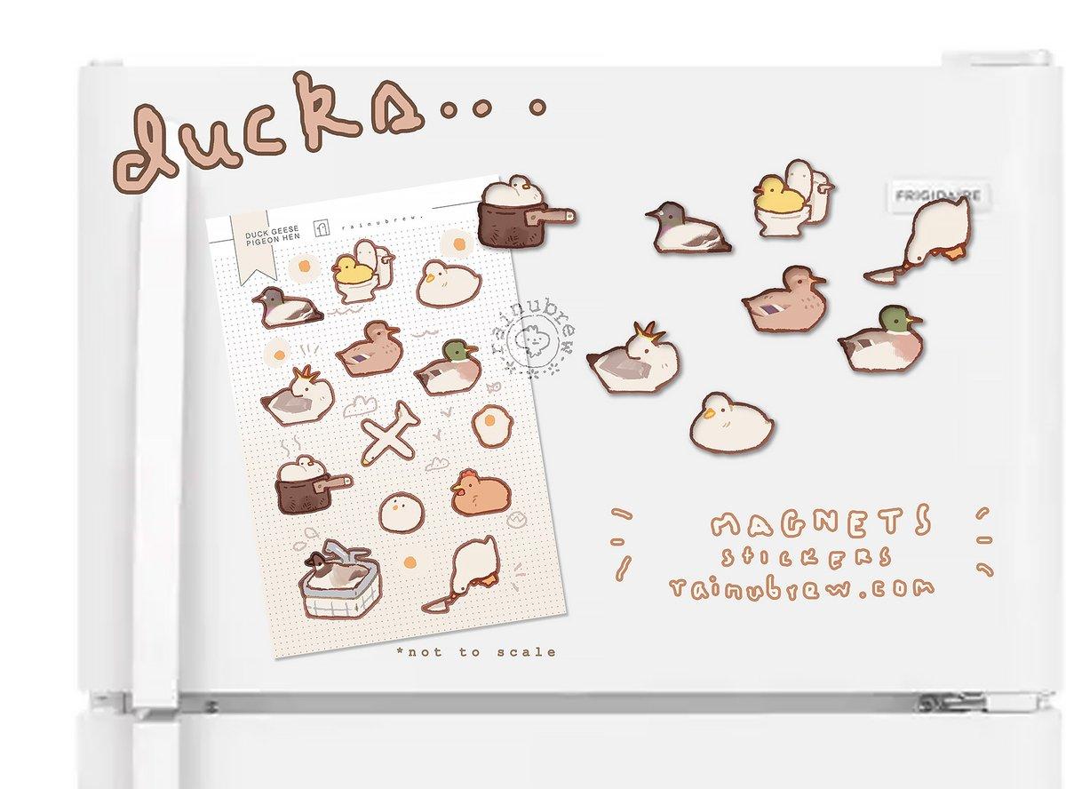 Image of [PREORDER] ducks...   Sticker Sheet & Magnets