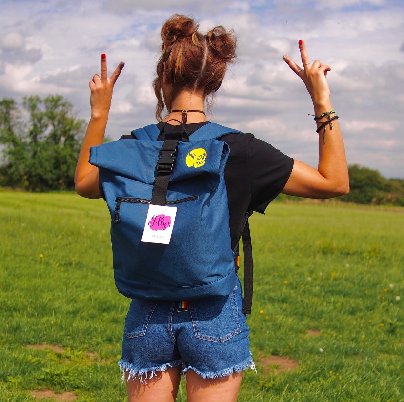 ROLO - Roll top rucksack with JF skull