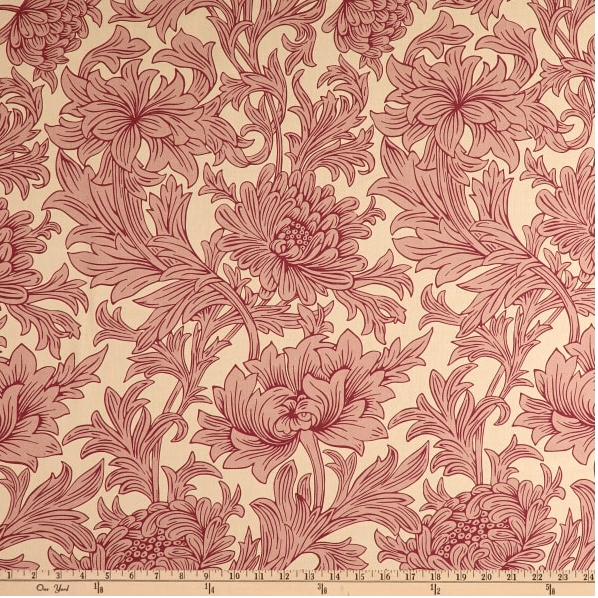 Image of Chrysanthemum Toile  Red Shade