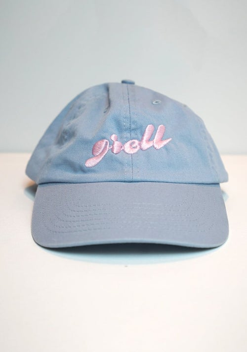 Image of Embro greLL Dad Hat - BBlue w/ Yellow &  BBlue w/ Pink
