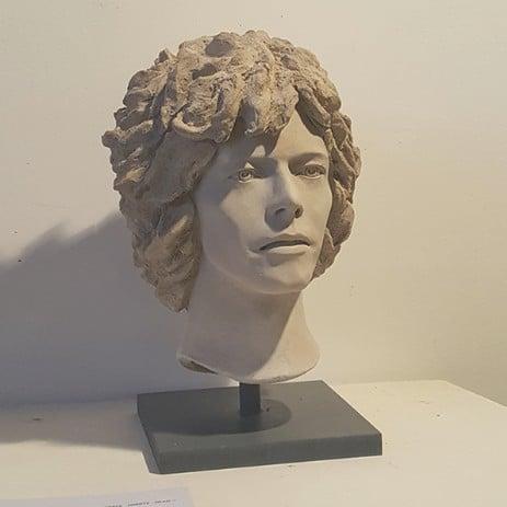 'Space Oddity' Full Head Sculpture *UK Stock* White Terracotta