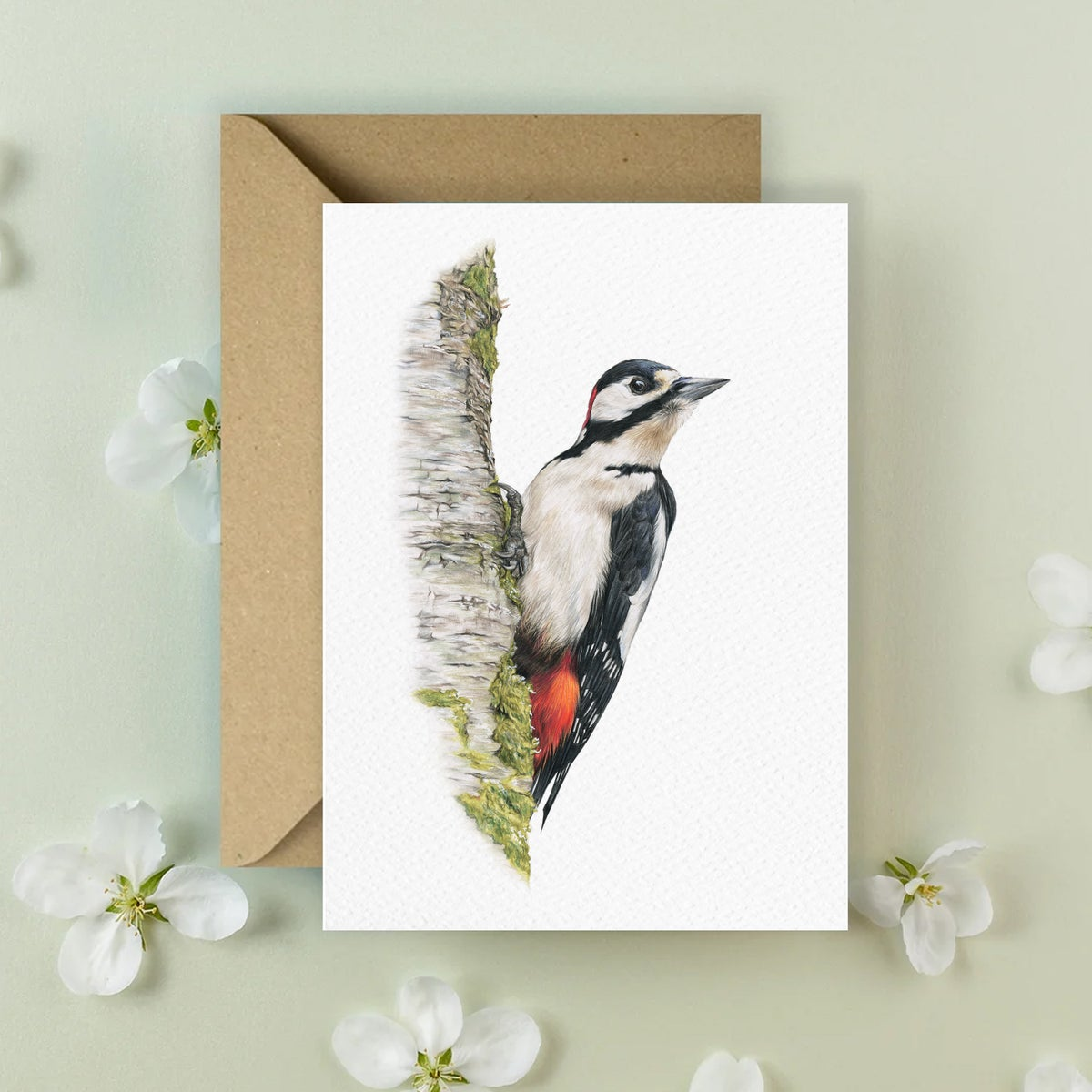 Image of 'Great Spotted Woodpecker' Greeting Card