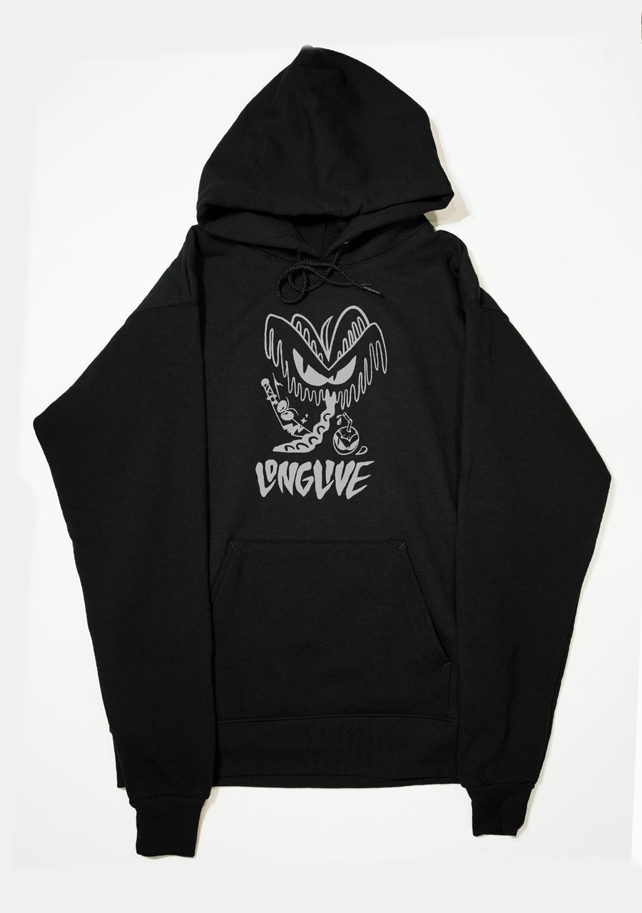 Image of Angry Coconut Pullover Hoodie - Black
