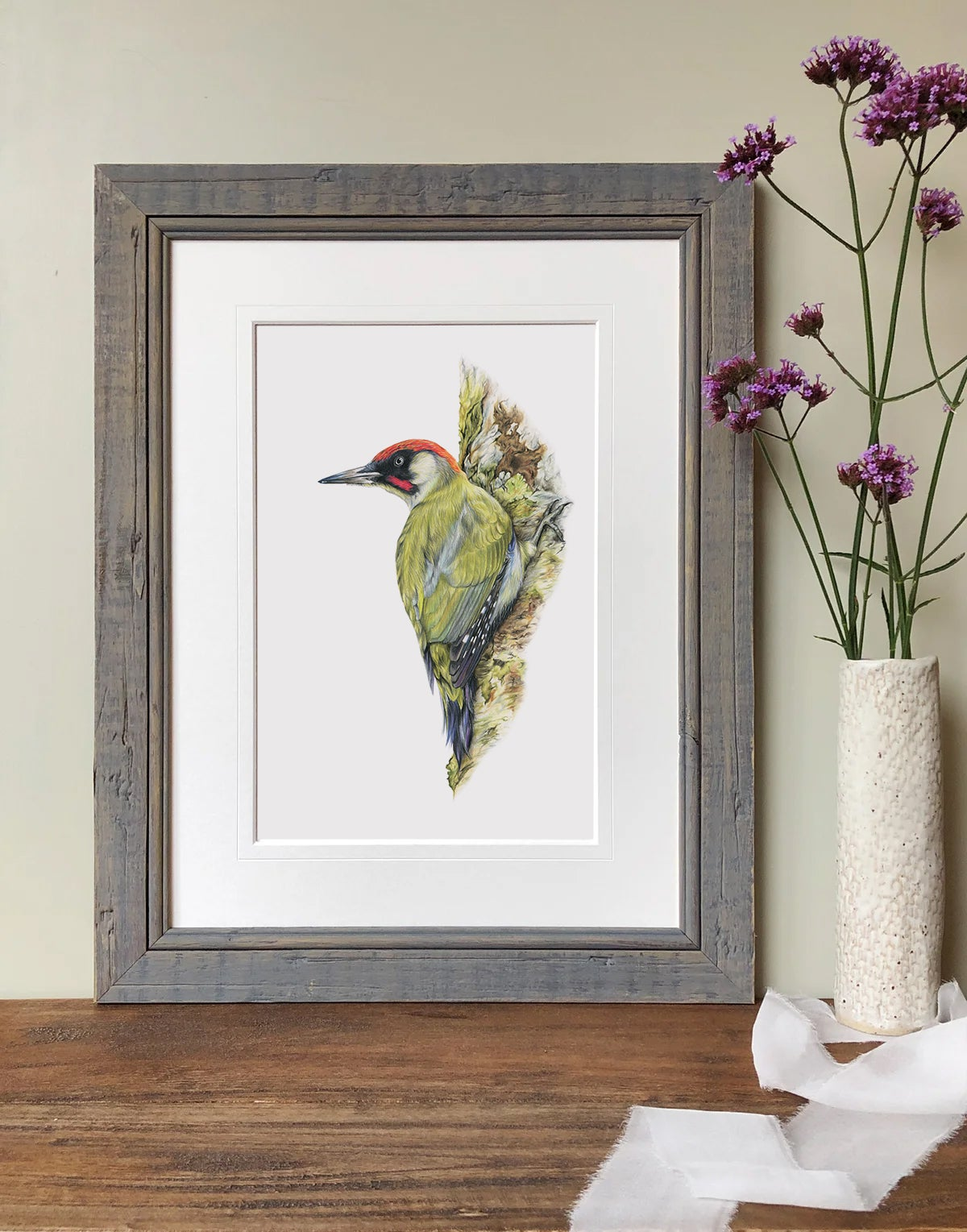 Image of 'Green Woodpecker' Limited Edition Print