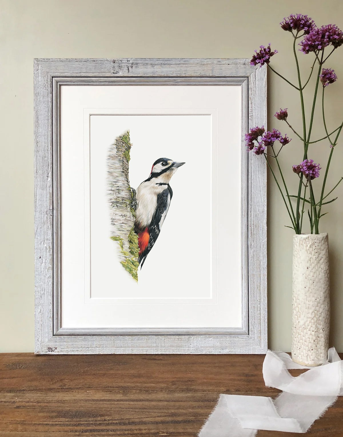 Image of 'Great Spotted Woodpecker' Limited Edition Print