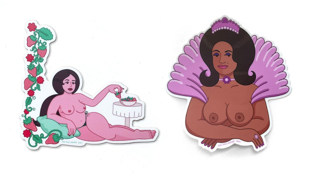 Image of Chesty Besties stickers