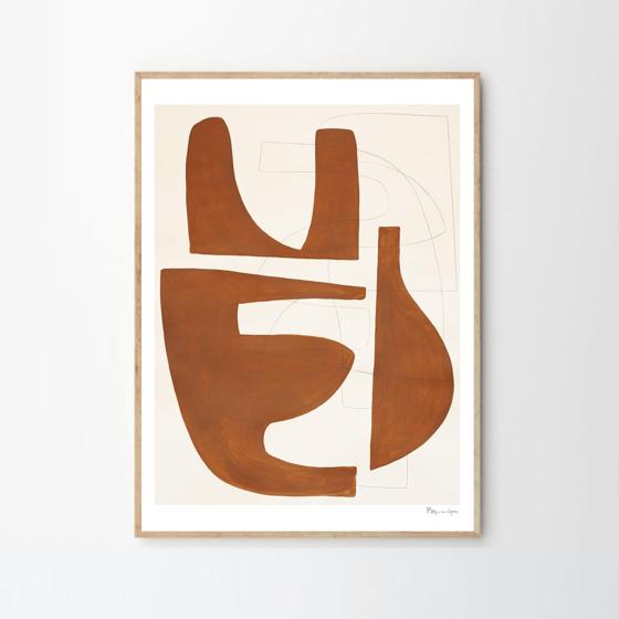 Image of Sienna framed art print by Berit Mogensen