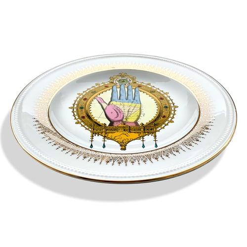 Image of Left Hand - Vintage porcelain plate - #0721