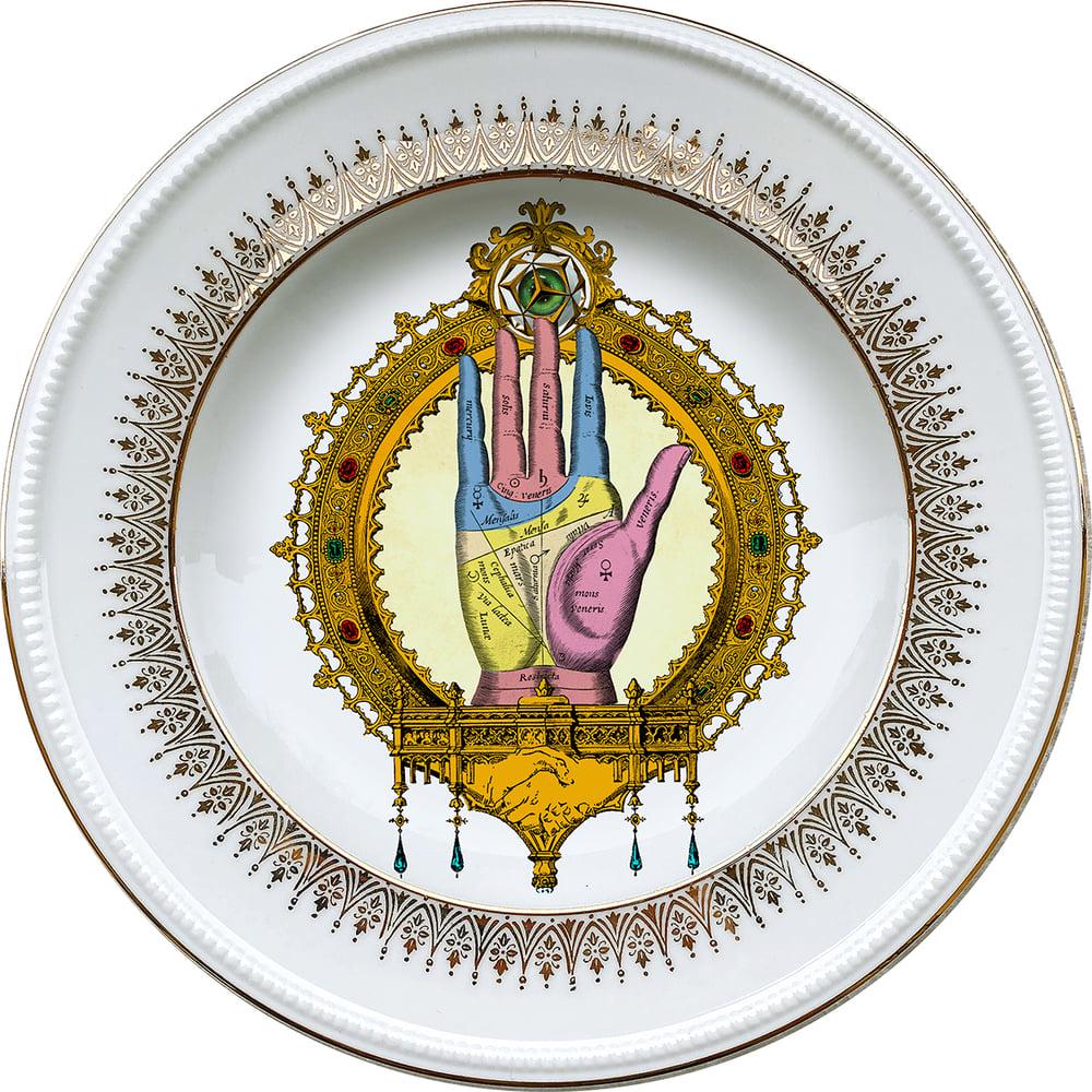 Image of Right Hand - Vintage porcelain plate - #0721