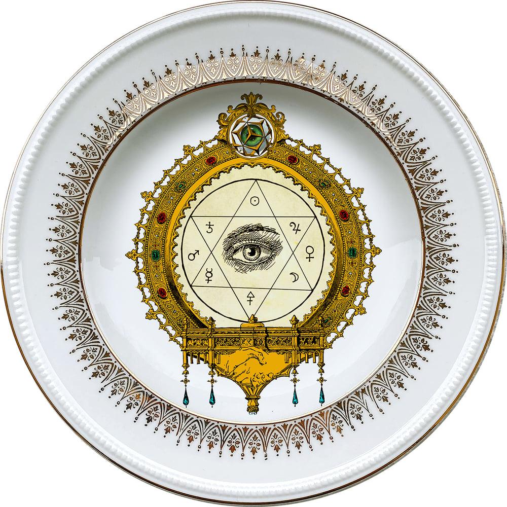 Image of The Eye -  Vintage porcelain plate - #0721