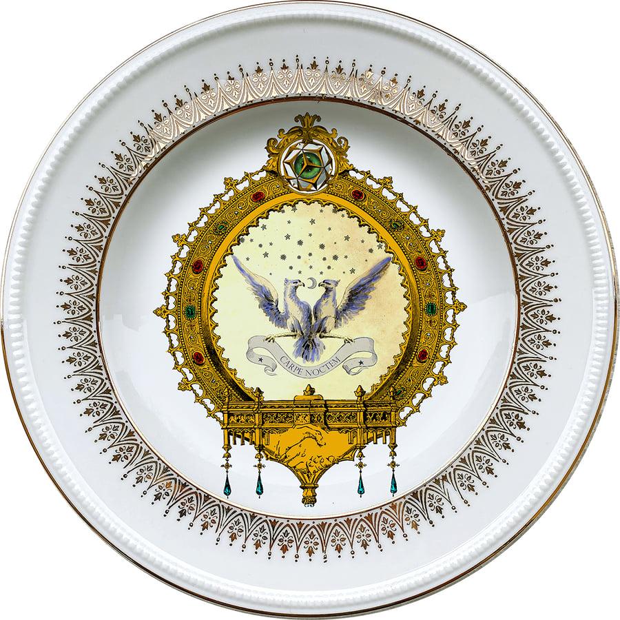 Image of NIGHT - Vintage porcelain plate - #0721