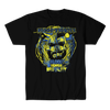 ALEX COLON-BLOOD, BEARDS, AND BRUTALITY SHIRT (BLUE/YELLOW VARIANT)