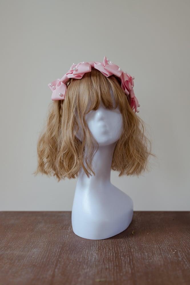 Image of Three Ribbon Headress - Pastel Pink