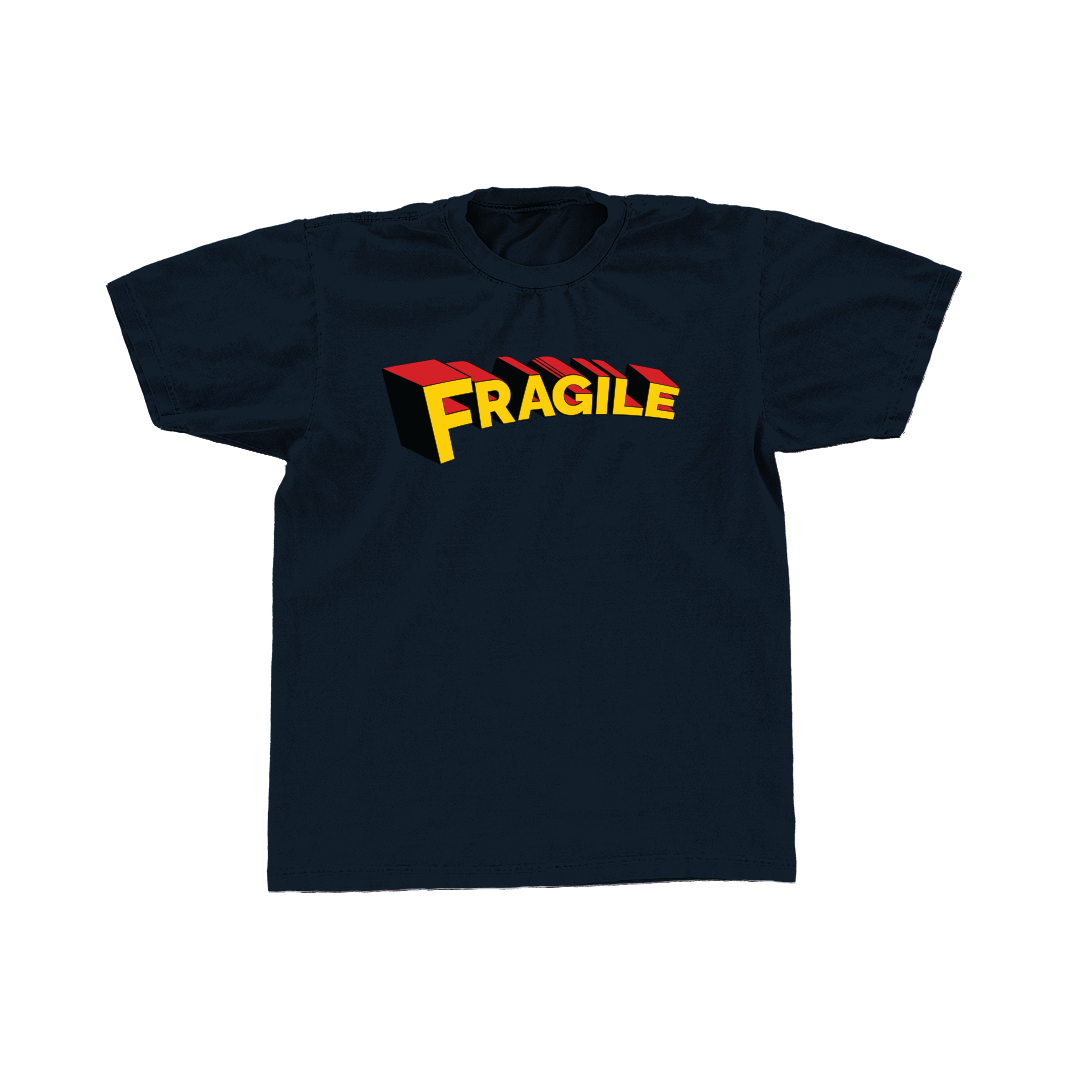 Image of Fragile Tee (Navy)