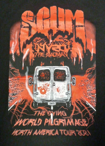 """Image of SCUM : THE DYING WORLD PILGRIMAGE """" NORTH AMERICA TOUR 2021 shirt"""