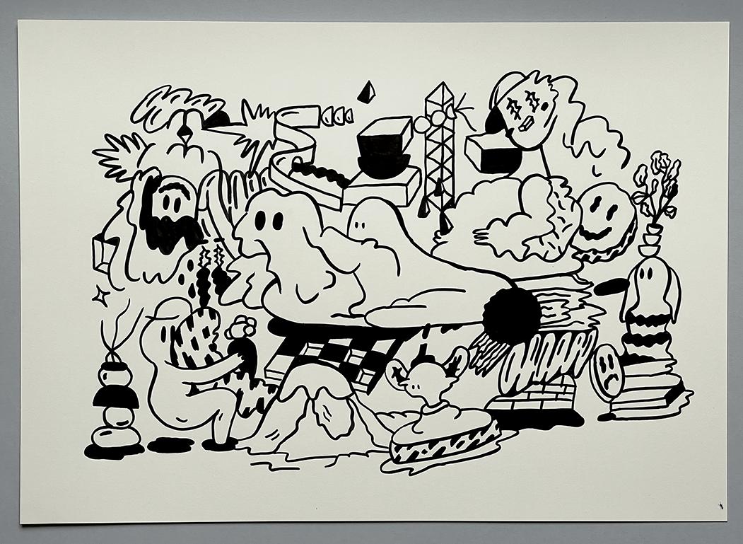 Ink drawing no. 74