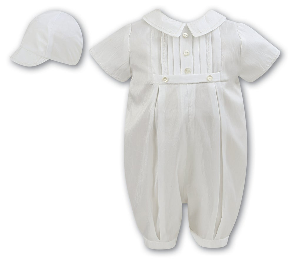 Image of Sarah Louise Ivory Romper and Cap