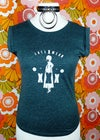 ImpermDelects Upcycled 'XXX' Print Green Heather Tshirt