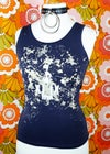 ImpermDelects Upcycled 'XXX' Splatter Print Steel Grey Tank Top