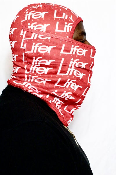 Image of LIFER ALL OVER FULL SKI MASK (RED)