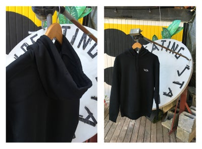 Image of CREW HOODIE - black - embroidered logo