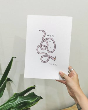 Image of wormy print