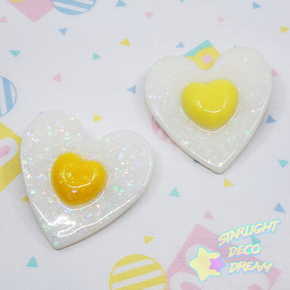 Image of CHOOSE ONE Heart-Shaped Egg with Heart Yolk 2WAY Hair Clip and Hair Pin