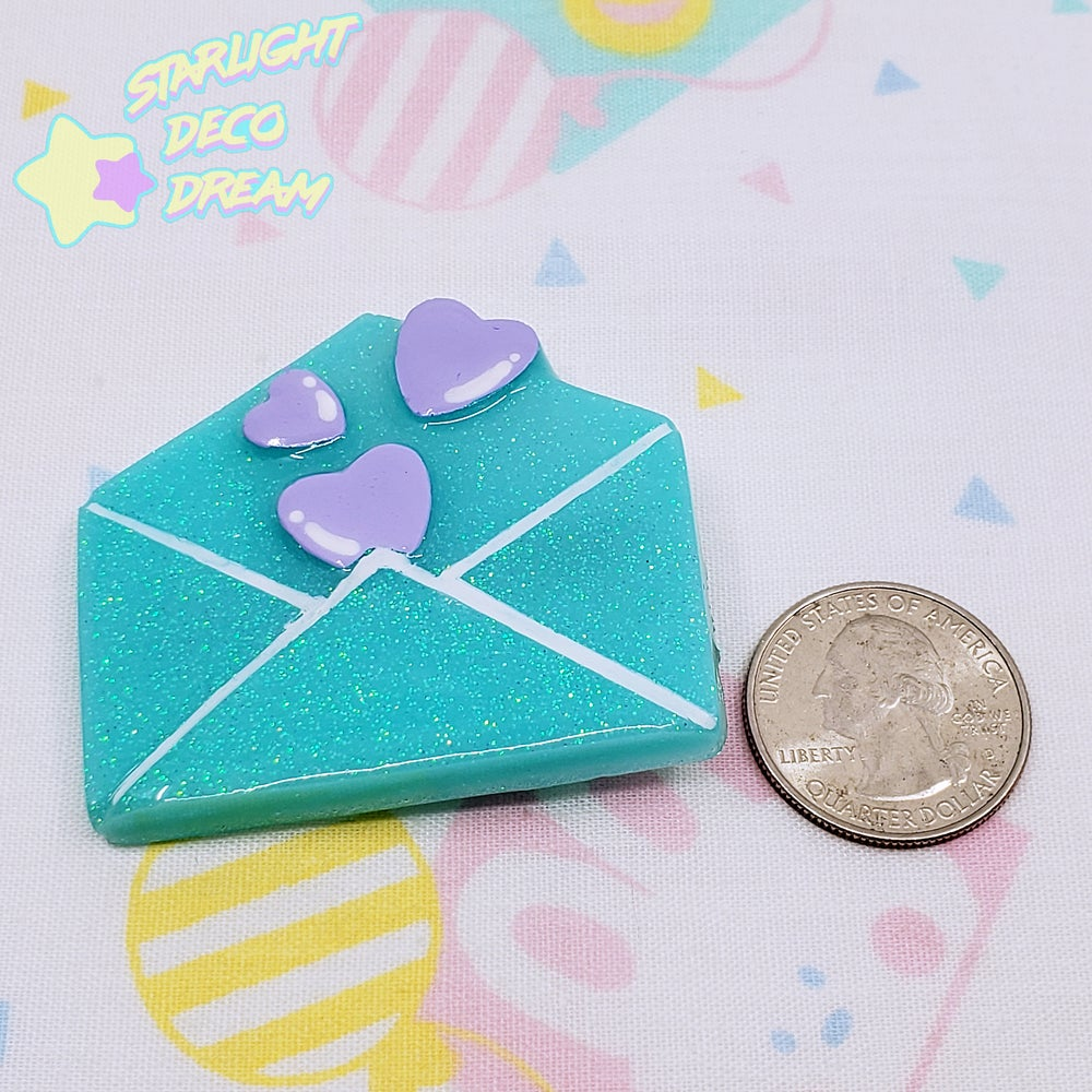 Image of Heartful Message Love Letter Resin Hair Clip ~ CHOOSE ONE