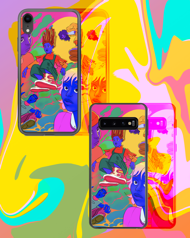 Image of FALLING UPWARDS INTO THE GIANTS DEN PHONE CASES