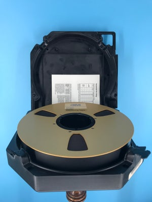 """Image of 3M 996 2"""" x 2500' High Output Reel Tape On 10.5"""" Gold Reel in TapeCare Case One Pass -Used"""