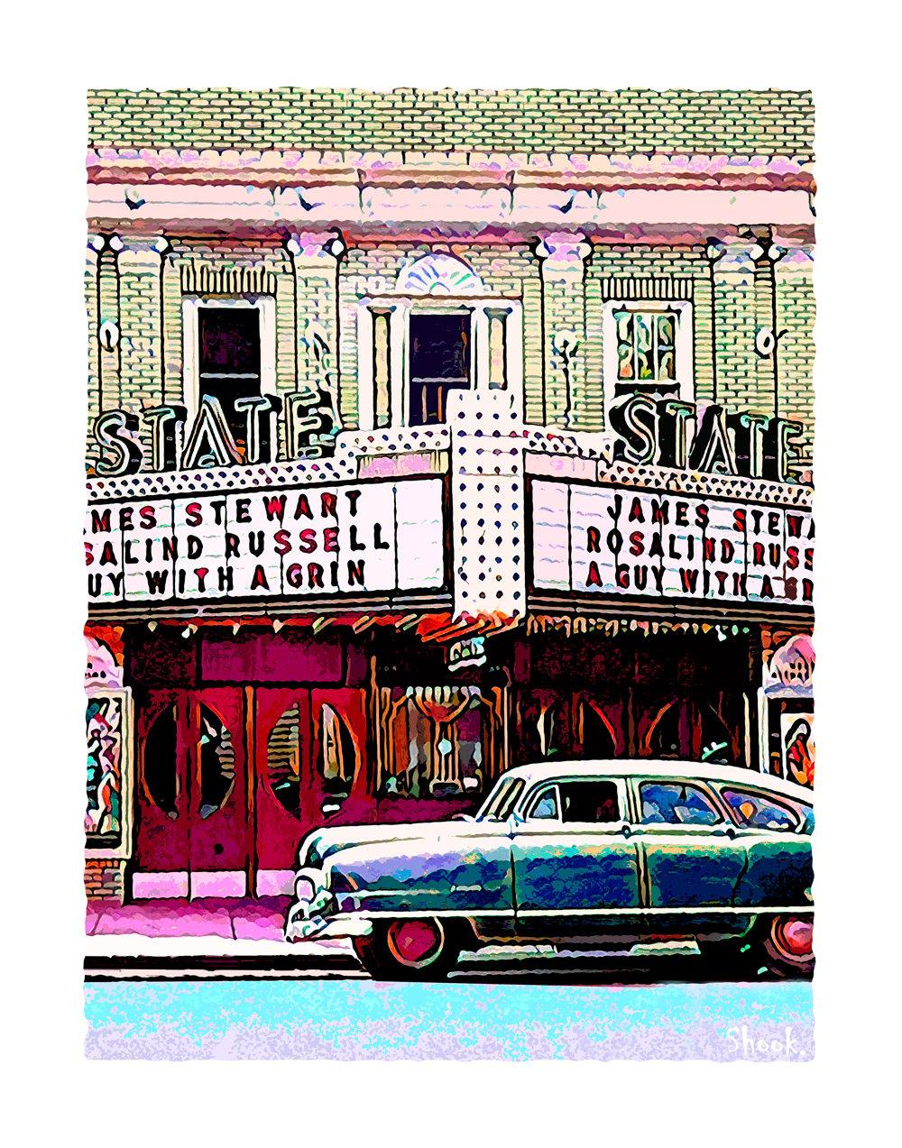 State Theater, Newark DE Giclée Art Print (Multi-size options)