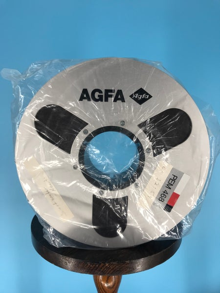 """Image of AGFA 468 2"""" x 2500' High Bias Reel Tape On 10.5"""" Reel in Box One Pass -Used With Leader"""