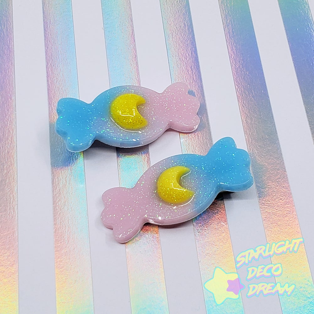 Image of Set of TWO Candy with Moon Accent Hair Clip ~ CHOOSE A SET