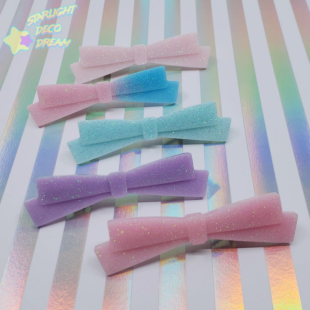 Image of Long Fancy Resin Bow Clip 2 ~ CHOOSE ONE