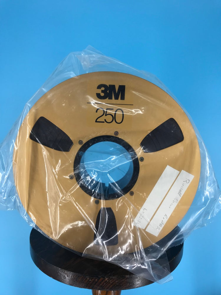 """Image of 3M 250 2"""" x 2500' High Bias Reel Tape On 10.5"""" Gold Reel in Box One Pass -Used"""