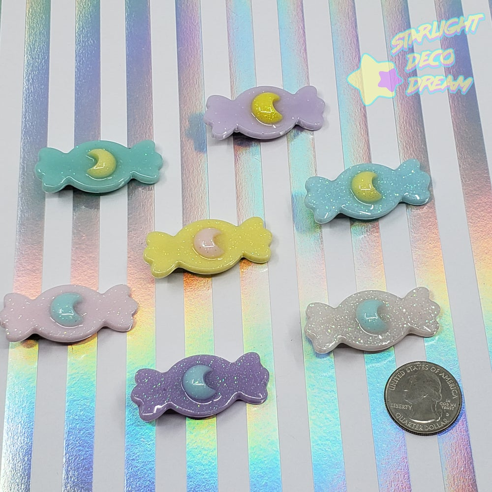 Image of Candy with Moon Accent Hair Clip ~ CHOOSE ONE