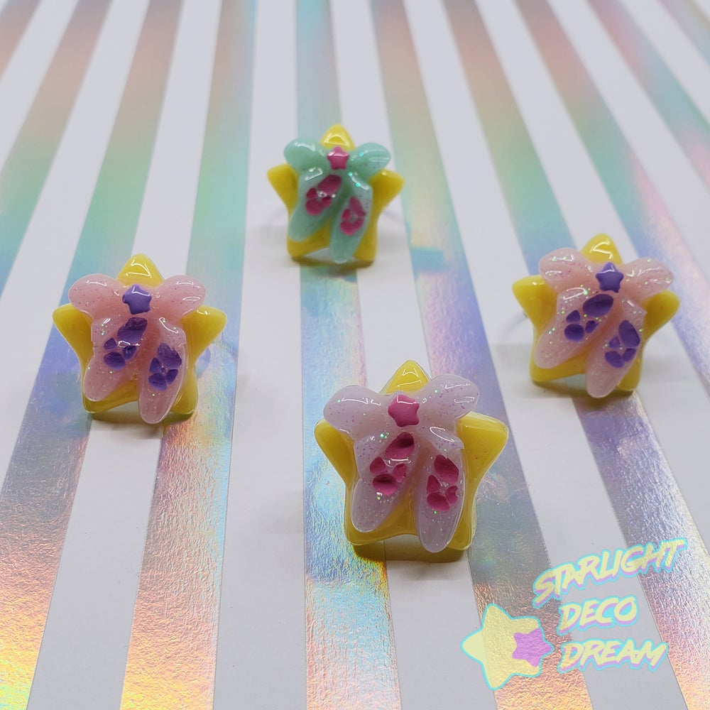 Image of Baby Star Fancy Ballet Slippers Resin Ring / Adjustable Size