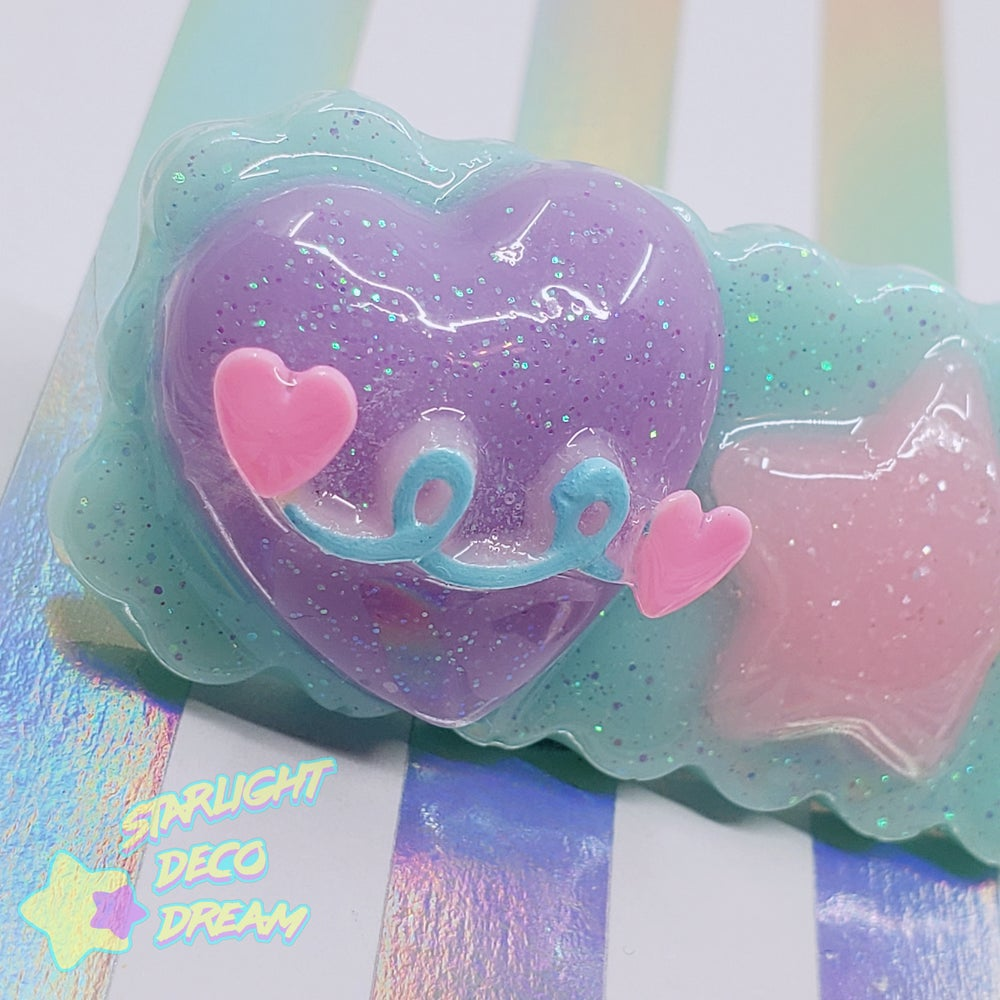 Image of Cosmetic Candy Mint SUPER FANCY 80s Style Resin Hair Clip