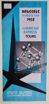 Brussels-Scarce Original 1958 American Express Tours to Brussels for the Fair #1152